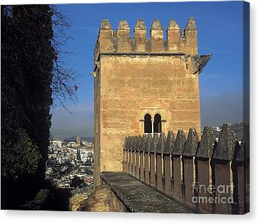 Historic Architecture Canvas Print - The Alhambra Tower Of The Picos by Guido Montanes Castillo