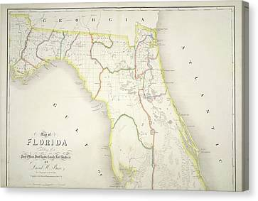 Seacoast Canvas Print - The American Atlas by British Library