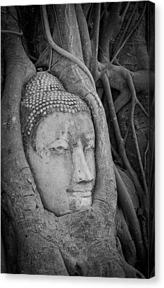 The Ancient City Of Ayutthaya Canvas Print by Thosaporn Wintachai