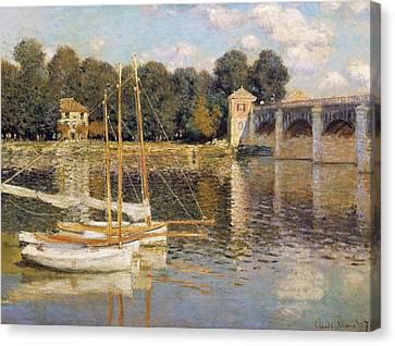 Dappled Light Canvas Print - The Argenteuil Bridge by Claude Monet