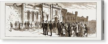 The Assassination Of Carey, Arrest Of Odonnell At Port Canvas Print
