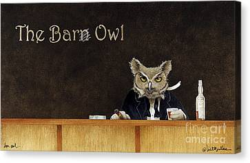 The Bar Owl... Canvas Print by Will Bullas