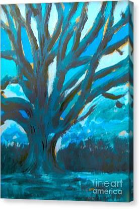 The Blue Tree Canvas Print