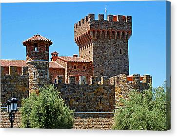 The Castle Winery Napa Valley California Canvas Print