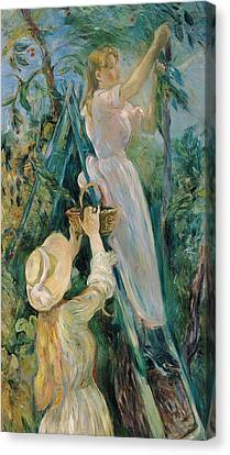 The Cherry Picker  Canvas Print by Berthe Morisot