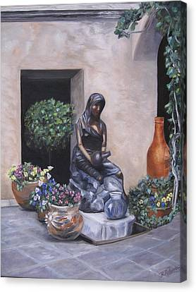 The Courtyard Canvas Print