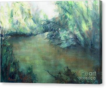 The Creek At Dawn Canvas Print by Mary Lynne Powers