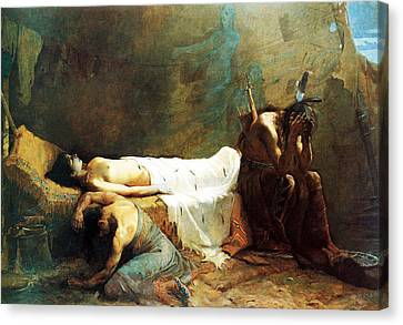 The Death Of Minnehaha Canvas Print by William De Leftwich Dodge