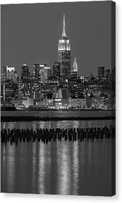 Building Canvas Print - The Empire State Building Pastels II by Susan Candelario