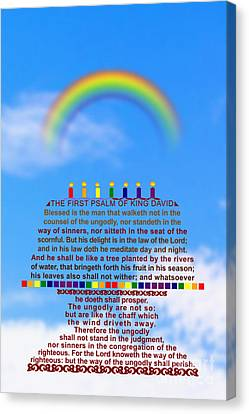 The First Psalm Of King David Canvas Print