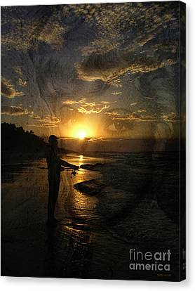 Canvas Print featuring the photograph The Fishing Lure by Megan Dirsa-DuBois