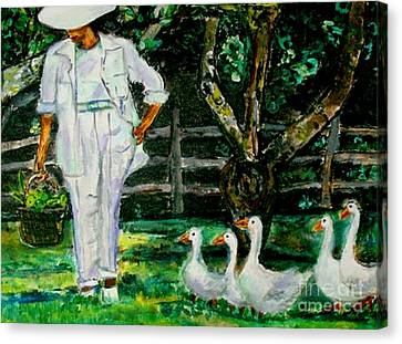 The Five Ducks Canvas Print