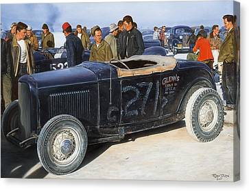 Hot Rod Canvas Print - The Frank English Roadster by Ruben Duran