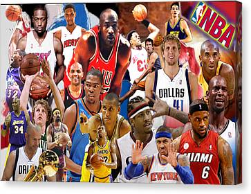 Basketball Collection Canvas Print - The Greatest by Edward Cormier Jr