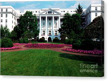 The Greenbrier Canvas Print by Thomas R Fletcher