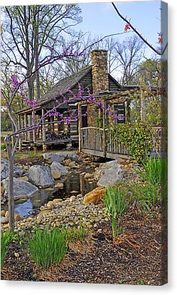 The Historic Gosnell Log Cabin  Mauldin Sc Canvas Print