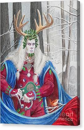 The Holly King Canvas Print by Melissa A Benson