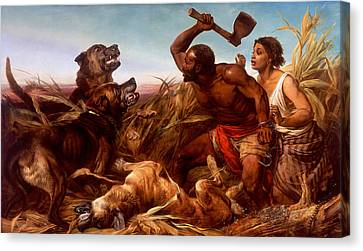 The Hunted Slaves Canvas Print by Mountain Dreams