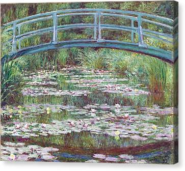 The Japanese Footbridge Canvas Print by Claude Monet