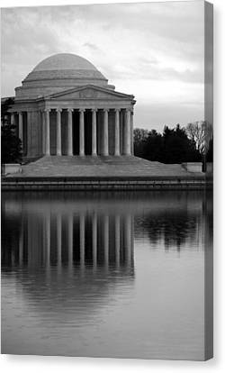 Canvas Print featuring the photograph The Jefferson Memorial by Cora Wandel