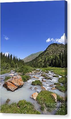 Kyrgyzstan Canvas Print - The Jeti Oghuz Valley In Kyrgyzstan by Robert Preston