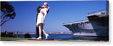 The Kiss Between A Sailor And A Nurse Canvas Print by Panoramic Images