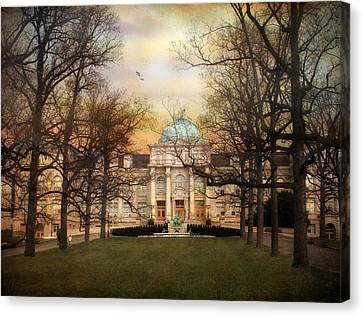 The Library Canvas Print by Jessica Jenney