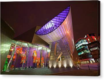 The Lowry Centre In Salford Quays Canvas Print by Ashley Cooper