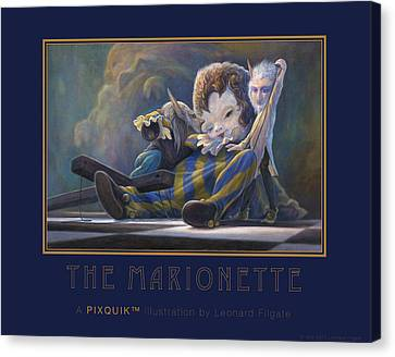 The Marionette Canvas Print by Leonard Filgate