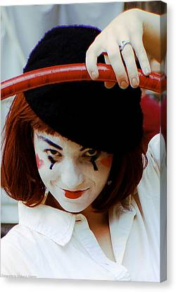 The Mime Canvas Print by Michael Nowotny