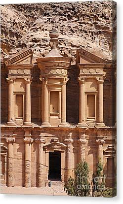 The Monastery At Petra In Jordan Canvas Print
