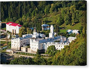 The Monastery Of Bistrita In Wallachia Canvas Print by Martin Zwick