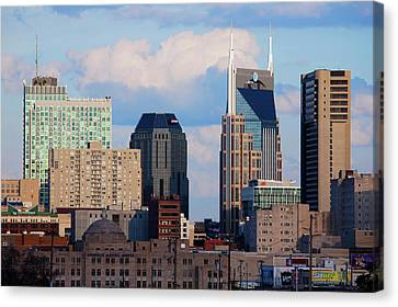 The Nashville Skyline As Viewed Canvas Print