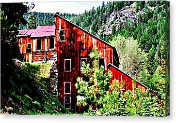 The Old E And E Canvas Print by Lynne and Don Wright