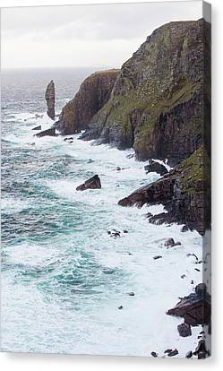 The Old Man Of Stoer Canvas Print by Ashley Cooper