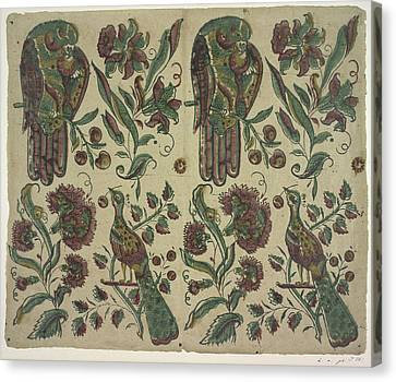 Blockprint Canvas Print - The Olga Hirsch Collection Of Decorated P by British Library