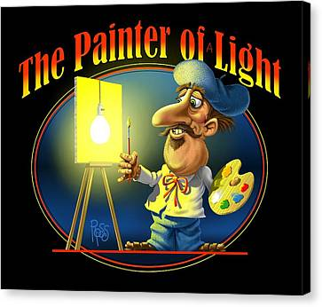 The Painter Of Light Canvas Print by Scott Ross
