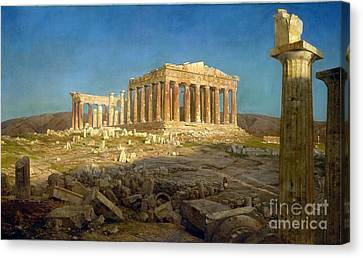 The Parthenon Canvas Print by Celestial Images