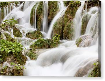 The Plitvice Lakes In The National Park Canvas Print by Martin Zwick