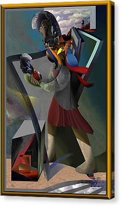 The Poet Canvas Print by Guy Ciarcia