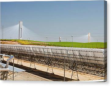 The Ps20 Solar Thermal Tower Canvas Print by Ashley Cooper