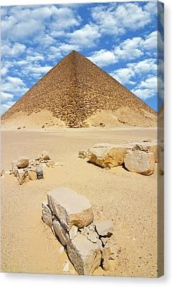 The Red Pyramid (senefru Or Snefru Canvas Print by Nico Tondini