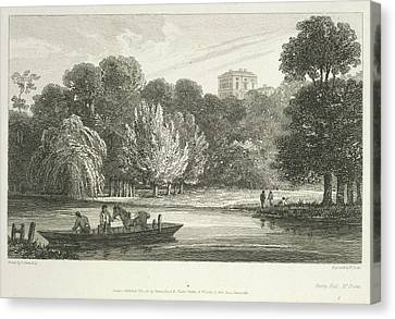 The River Thames Canvas Print by British Library