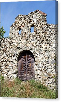 Portal Canvas Print - The Romantic Church Of Cisnadioara by Martin Zwick