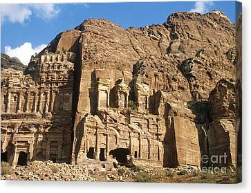 The Royal Tombs, Petra Canvas Print by Catherine Ursillo