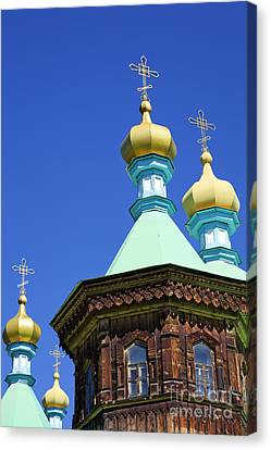 Kyrgyzstan Canvas Print - The Russian Orthodox Holy Trinity Cathedral At Karakol In Kyrgyzstan by Robert Preston