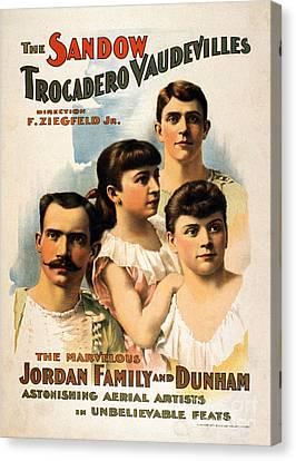 The Sandow Trocadero Vaudevilles, 1894 Canvas Print by Photo Researchers