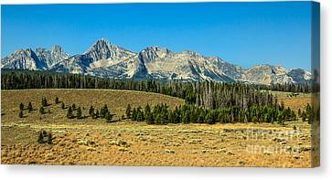 The Sawtooths Canvas Print by Robert Bales