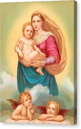 Child Jesus Canvas Print - The Sistine Madonna by Raphael