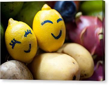 The Smiling Lemons Canvas Print by Mohd Shukur Jahar